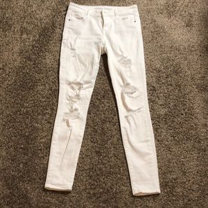 Old navy size 2 rockstar white ripped jeans